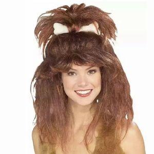 🆕 Rubie's CAVEWOMAN Wig + Bone Adult Costume Big